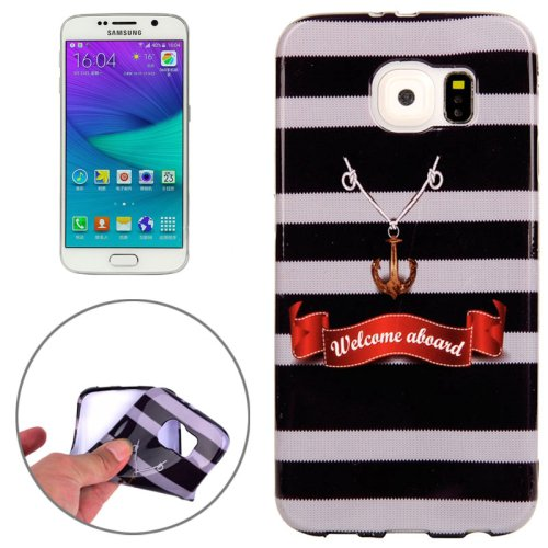 For Galaxy S6 Edge Welcome Aboard Pattern TPU Protective Case