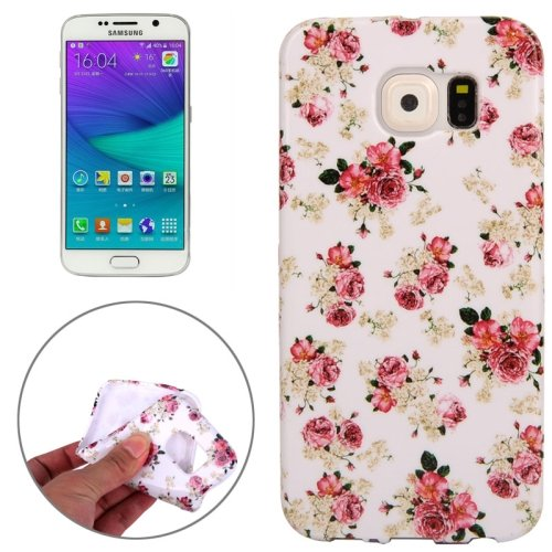 For Galaxy S6 Edge Floral Pattern TPU Protective Case