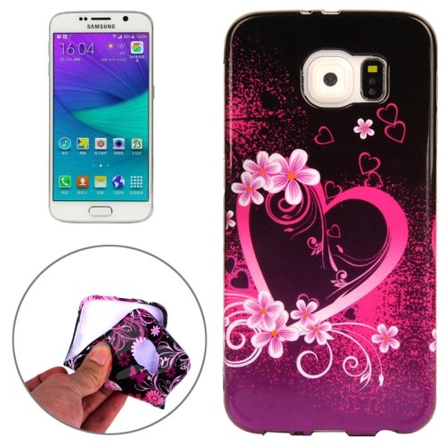 For Galaxy S6 Edge Heart Pattern TPU Protective Case