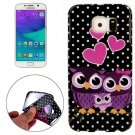 For Galaxy S6 Edge Owls Family Pattern TPU Protective Case