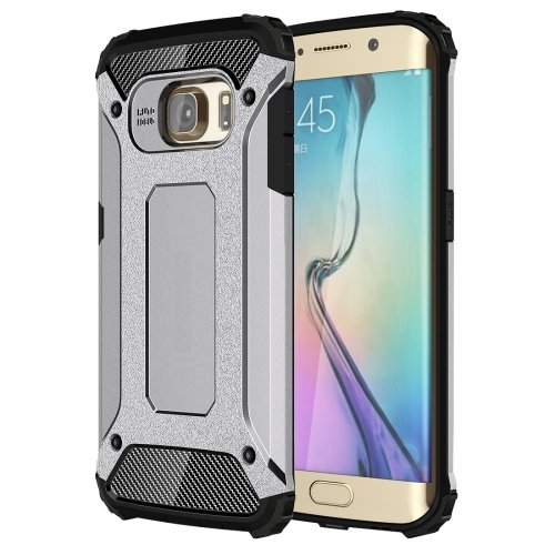 For Galaxy S6 Edge Grey Tough Armor TPU + PC Combination Case