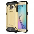 For Galaxy S6 Edge Gold Tough Armor TPU + PC Combination Case