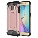 For Galaxy S6 Edge Rose Gold Tough Armor TPU + PC Combination Case