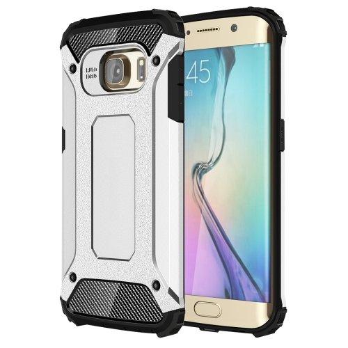 For Galaxy S6 Edge Silver Tough Armor TPU + PC Combination Case