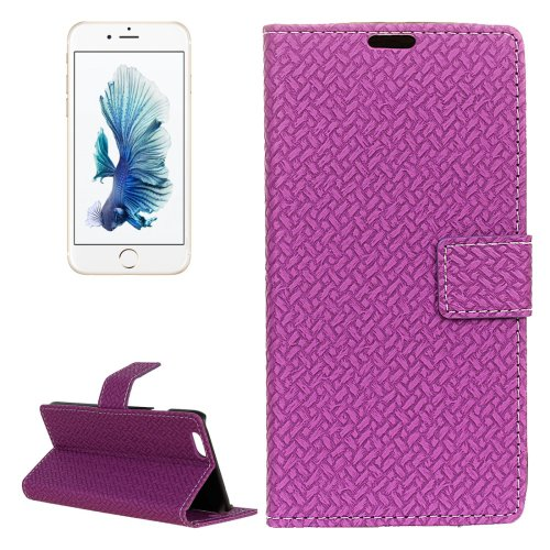 For iPhone 6/6s Weaving Leather Case with Holder, Wallet & Card Slots - # Colors