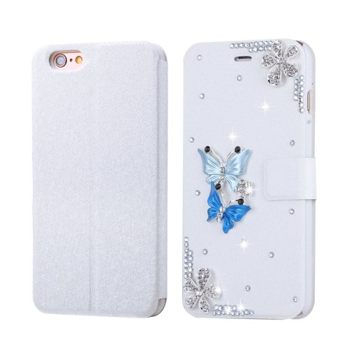 For iPhone 6/6s Fevelove Butterflies Magnetic Buckle Leather Case with Card Slots