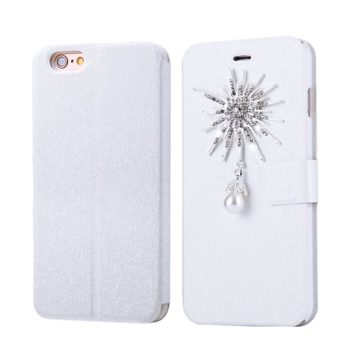 For iPhone 6/6s Fevelove Pearl Magnetic Buckle Leather Case with Card Slots
