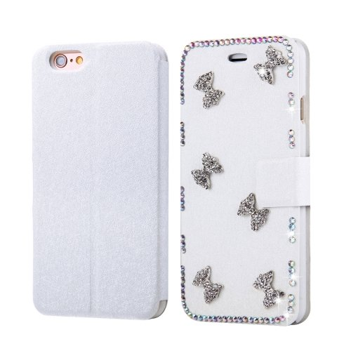 For iPhone 6/6s Fevelove Bowknot Magnetic Buckle Leather Case with Card Slots