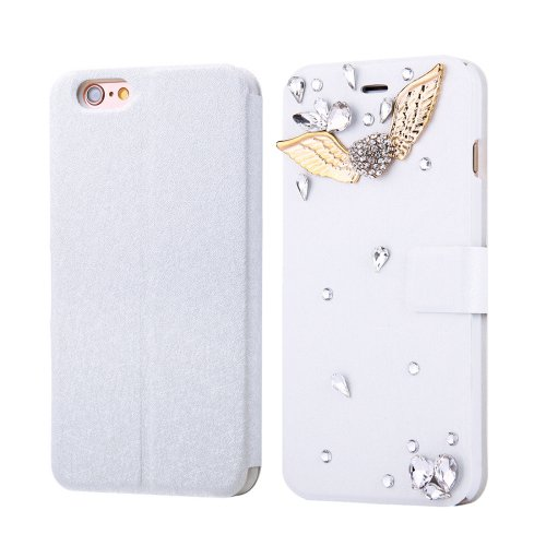 For iPhone 6/6s Fevelove Wings Magnetic Buckle Leather Case with Card Slots