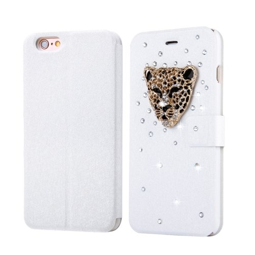 For iPhone 6/6s Fevelove Leopard Magnetic Buckle Leather Case with Card Slots