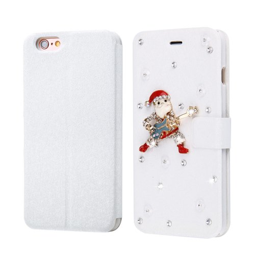 For iPhone 6/6s Fevelove Christmas Magnetic Buckle Leather Case with Card Slots
