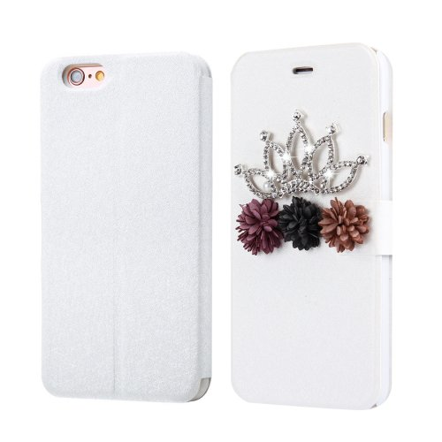 For iPhone 6/6s Fevelove Crown Magnetic Buckle Leather Case with Card Slots