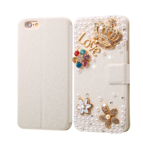 For iPhone 6/6s Diamond Crown Leather Case with Magnetic Buckle, Card Slots