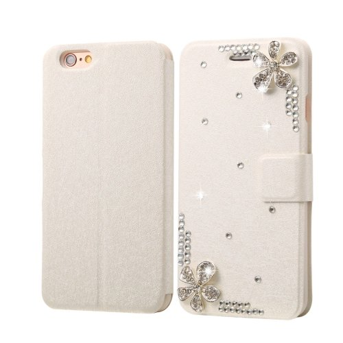 For iPhone 6/6s Diamond Piping Leather Case with Magnetic Buckle, Card Slots