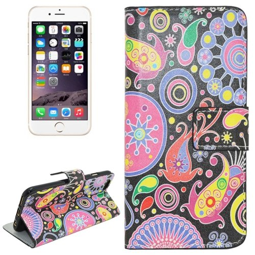 For iPhone 6/6s Acaleph Magnetic Leather Case with Holder, Wallet & Card Slots