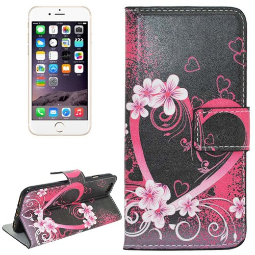 For iPhone 6/6s Heart Magnetic Leather Case with Holder, Wallet & Card Slots