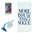 For iPhone 6/6s VOGUE Pattern Leather Case with Holder, Wallet & Card Slots