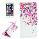 For iPhone 6/6s Color Pattern Leather Case with Holder, Wallet & Card Slots