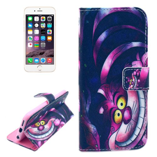 For iPhone 6/6s Cat Pattern Leather Case with Holder, Wallet & Card Slots