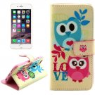 For iPhone 6/6s Cross Cartoon Leather Case with Holder, Wallet & Card Slots