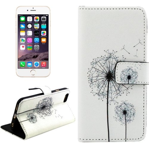 For iPhone 6/6s Cross Dandelions Leather Case with Holder, Wallet & Card Slots