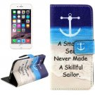 For iPhone 6/6s Cross Seabeach Leather Case with Holder, Wallet & Card Slots