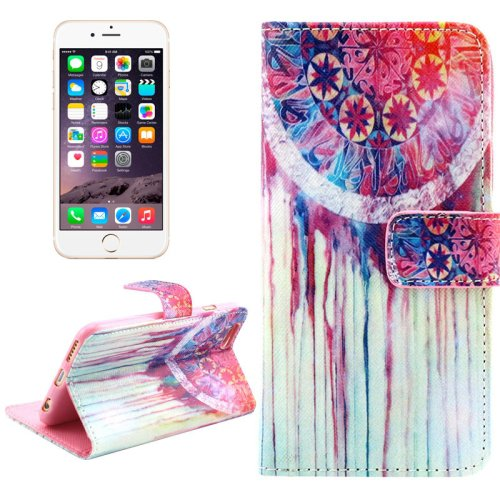 For iPhone 6/6s Cross Chimes Leather Case with Holder, Wallet & Card Slots