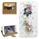 For iPhone 6/6s Diamond Butterfly Leather Case with Holder & Card Slots