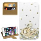 For iPhone 6/6s Diamond Swan Leather Case with Holder & Card Slots