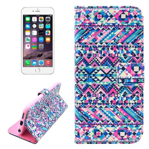 For iPhone 6/6s Tribal Leather Case with Holder, Wallet & Card Slots