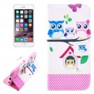 For iPhone 6/6s Owl Family Leather Case with Holder, Wallet & Card Slots