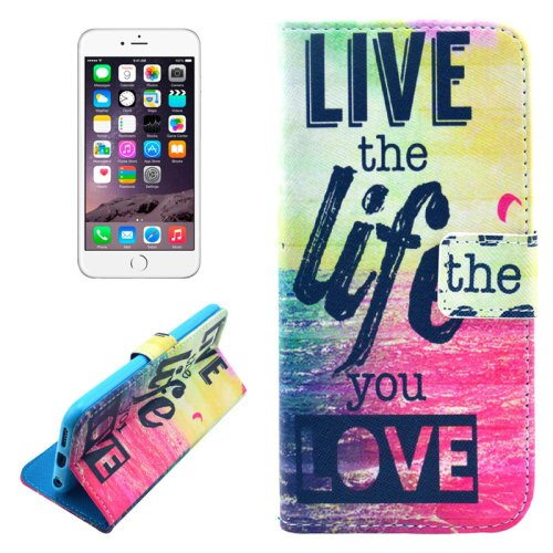 For iPhone 6/6s Live Leather Case with Holder, Money pocket  & Card Slots