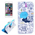 For iPhone 6/6s Graffiti Leather Case with Holder, Money pocket  & Card Slots
