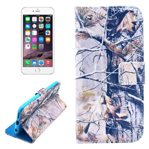 For iPhone 6/6s Branch Leather Case with Holder, Money pocket  & Card Slots