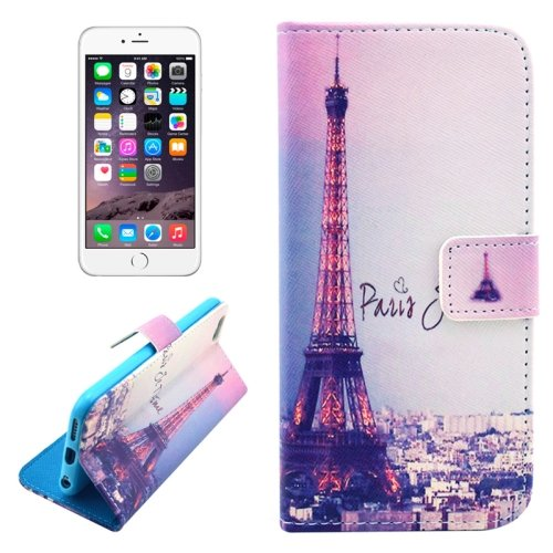 For iPhone 6/6s Paris Leather Case with Holder, Money pocket  & Card Slots