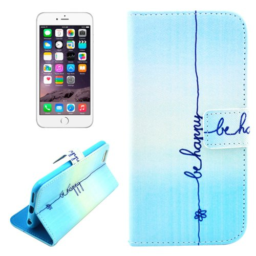 For iPhone 6/6s Happy Leather Case with Holder, Money pocket  & Card Slots