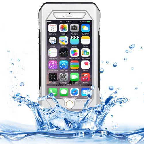 For iPhone 6/6s Silver RIYO IP68 Waterproof Shockproof Dustproof Snowproof Case