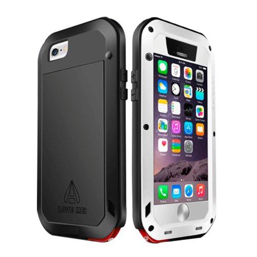 For iPhone 6/6s Love Mei White Metal Ultra-thin Waterproof Dustproof... Case