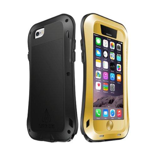 For iPhone 6/6s New Love Mei Gold Metal Ultra-thin Waterproof Dustproof... Case