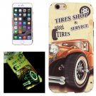For iPhone 6/6s Tires Shop Pattern PC Protective Case with Noctilucent