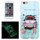 For iPhone 6/6s Car Test Pattern PC Protective Case with Noctilucent