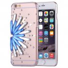 For iPhone 6/6s Fevelove Diamond Flower Protective Case Back Cover