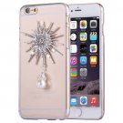 For iPhone 6/6s Fevelove Diamond Sunflower Protective Case Back Cover