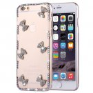 For iPhone 6/6s Fevelove Diamond Bowknots Protective Case Back Cover