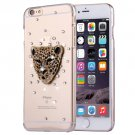 For iPhone 6/6s Fevelove Diamond Leopard Protective Case Back Cover
