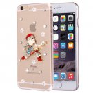 For iPhone 6/6s Fevelove Diamond Christmas Protective Case Back Cover