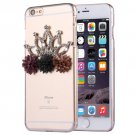 For iPhone 6/6s Fevelove Diamond Crown Protective Case Back Cover