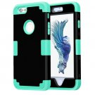 For iPhone 6/6s Separable Contrast PC + Silicone Combination Case - # Colors