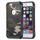 For iPhone 6/6s Green Camouflage Tough Armor PC + Silicone Case