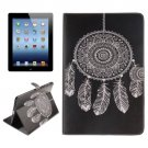 For iPad 4/3/2 Windbell Pattern Leather Case with Holder, Card Slots & Wallet
